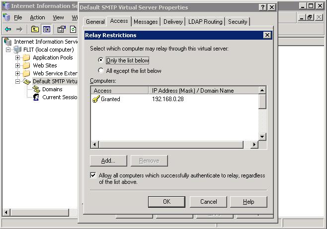 """""""configurer un relais smtp avec iis"""""""