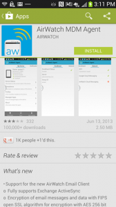 """""""airwatch android agent"""""""